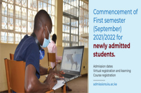 TO ALL NEWLY ADMITTED STUDENTS FOR FIRST SEMESTER (SEPTEMBER) 2021/2022 INTAKE